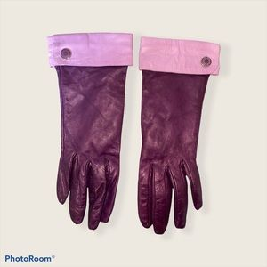 Vintage Leather Coach driving gloves